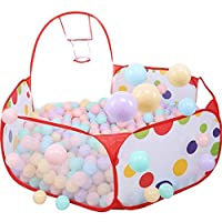 Kids Ball Pool, Ball Pit House Hideaway Pop-Up Play Tent Cubby House - Outdoor Play Tent Pit Ball Pool and Children Indoor Outdoor