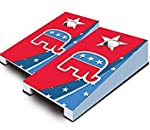 Republican themed table top set. Make this little set the life of your party. Great for bars, indoor parties, and more! cornholees ready to play right out of the box, no assembly required!es complete with 2 wooden game boards and 8 bags