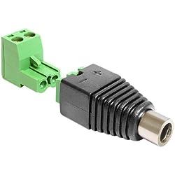 Delock 65486 Adapter DC 2,5 x 5,5 mm Buchse > Terminalblock 2 Pin 2-teilig