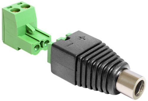 Delock 65486 Adapter DC 2,5 x 5,5 mm Buchse > Terminalblock 2 Pin 2-teilig - Buchse