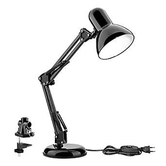 Le lampe de bureau led avec bras pliable culot e27 - Lampe de bureau style anglais ...