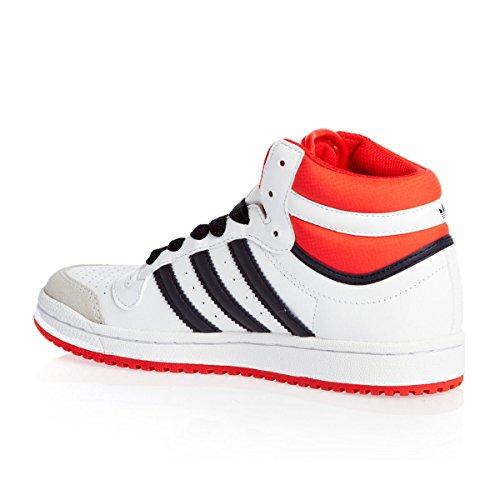 adidas Originals Topten Hi K, Sneaker Unisex-Bambini (BLANC/ROUGE/MARINE)