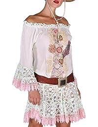 e35df9b28161 Amazon.it  a Positano.... - Bianco   Donna  Abbigliamento