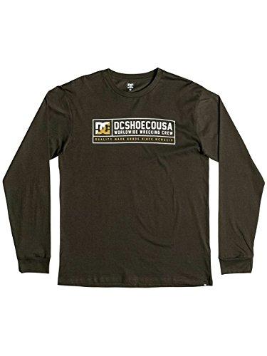Herren Langarmshirt DC Blackout T-Shirt Dark Olive
