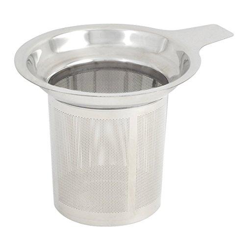 Da.Wa Tee Infuser Edelstahl Tee Isolator Steeper Sieb Multifunktionsfilter mit Griff für Lose Blattkorn Teetassen Becher und Töpfe -