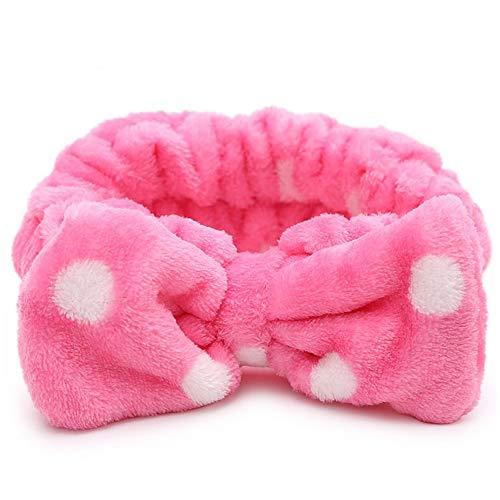 Fliyeong 1 STÜCKE Mädchen Bowknot Elastisches Haarband Weichkorallen Fleece Stirnband Home...