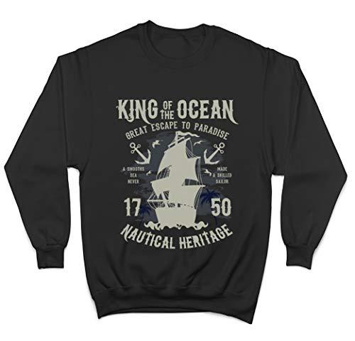 King of The Ocean Great Escape To Paradise Felpa/Sweatshirt - Nero - Medium