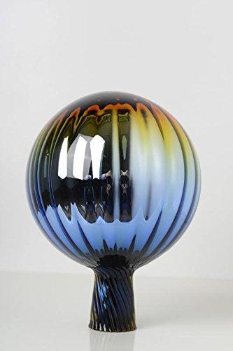 Rosenkugel aus Glas für den Garten - perfekte handgemachte Garten-Dekoration für Ihr Blumenbeetin vielen Farben, Formen und Größen, Hoche 21cm und Durchschnittlich 15cm, Regenbogen