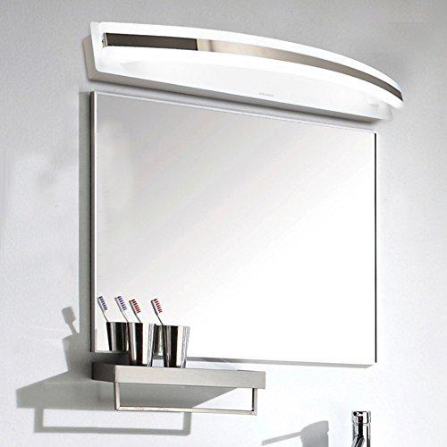SJMM Moderne 40LED SMD2835 8W LED Licht 40cm spiegel badezimmer Lampe Edelstahl Wandleuchte für Malerei Kommode el,warmes Weiß(#JD-1427)