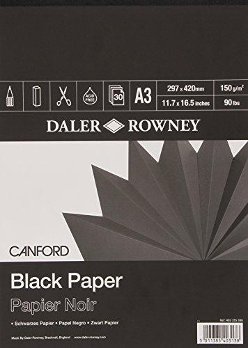 Daler-Rowney Canford Zeichenblock, A3, Schwarz
