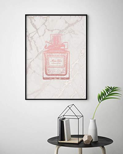 Marmor Parfüm (Rosa und Marmor Christian Dior Druck, Parfüm Flasche Dekor, Parfüm Dekanter, Parfüm Geschenk, Parfüm Bilder, Parfüm Flasche Art Deco)