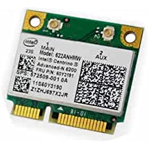 Intel Advanced-N 6200 - Mini tarjeta de red inalámbrica para HP, Lenovo ThinkPad, FRU 60Y3191, P/N:572509-001
