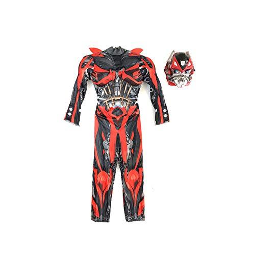 YANJJJ Kinder Halloween Hornet Optimus Prime Iron Man Kostüm (3 Farben),Red-L(130-140Cm)