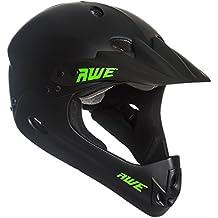 AWE® BMX Full Face casco negro tamaño mediano 54–58cm