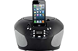 Bush Cd Boombox With Dock (Lightning Connector) - Black