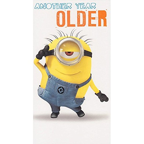 (Despicable Me Minion Another Year Older Geburtstag Karte)