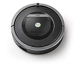 iRobot Roomba 871 Saugroboter (hohe Saugkraft und verfilzungsfreie Gummibürsten, Dirt Detect Technologie, reinigt alle Hartböden und Teppiche) grau