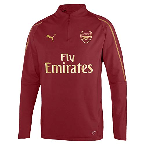 Puma Arsenal FC 1/4 Zip Top with EPL Sponsor Logo Camiseta, Hombre, Pomegranate, Medium