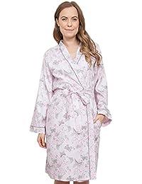 Cyberjammies 3770 Women s Sienna Pink Floral Dressing Gown Loungewear Bath  Robe Robe 1eed82c63