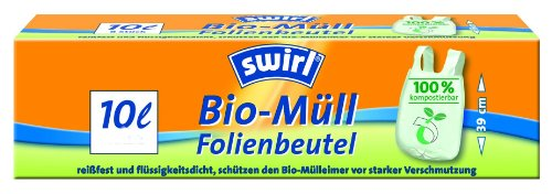 Price comparison product image Melitta Swirl Biofolien-Abfallbeutel mit Tragegriff, 10er