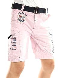 Solamode - Niño chino corto con cinturón - geográfica Noruega - Master Boy - moda - rosa