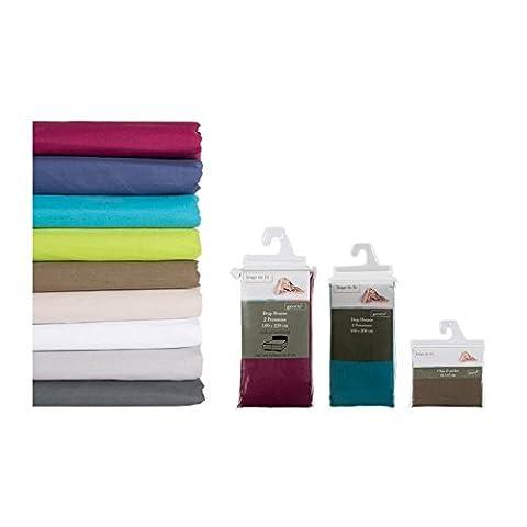 Lm-distribution - Taie d oreiller 65 x 65 cm - 100% coton Couleur - Gris clair
