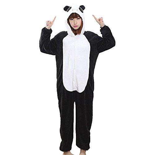 Imagen de kigurumi animal pijamas unisexo adulto traje cosplay disfraz panda pyjamas panda m