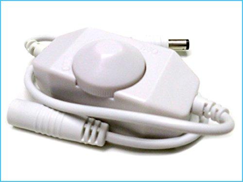 Led Dimmer PWM Kit Controller Manuale Con Rotella Per Striscia Bobina Led 12V 24W Con Kit-led