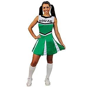 I Love Fancy Dress. ilfd4058s Mujer Disfraz De Animadora Con Impresión y falda de Squad (Pequeño)