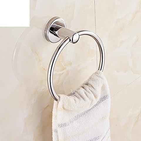 Anneau porte-serviettes de bain/anneau salle de bain serviette en acier inoxydable/porte-serviettes ronde