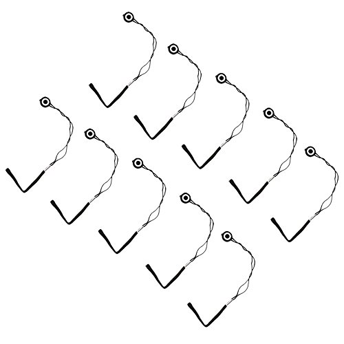 com-four® 10 Universal Objektiv-Deckel Halter Gummiband schwarz (10 Stück)