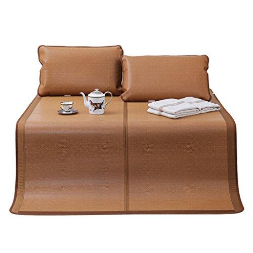 MTX-Matratzen Sets Bambus und Rattan Doppelseitige Klappmatte Sommer DREI-Sitzer Schlafmatte Staubdicht Doppelseitige Dual-Use-Matte Bambusmatte Rattansitz 120 X 200cm (größe : 200x150cm)
