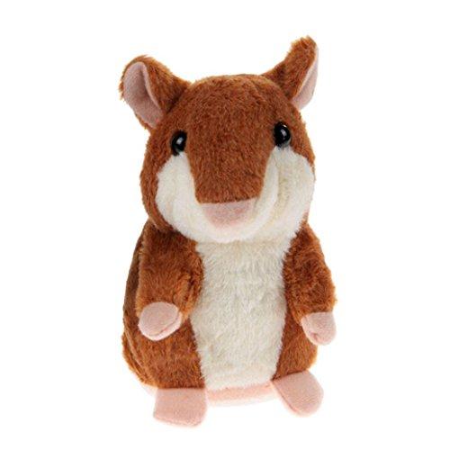 ALISIAM niedlich Nickte Hamster Plüsch toys interessantes Gespräch Sprechender Aufzeichnung Kinderspielzeug weich Maus flauschig Geschenk spielzeug (Braun)
