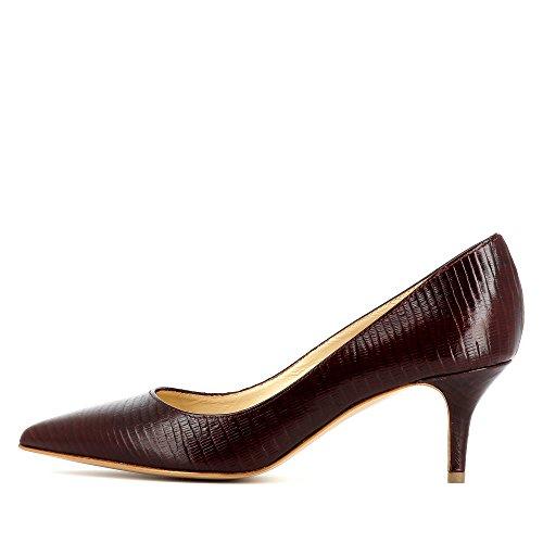 escarpins cuir gaufré GIULIA femme Bordeaux w4RdvAq