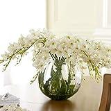 Poliéster / PU Orquídea Flores Artificiales , white