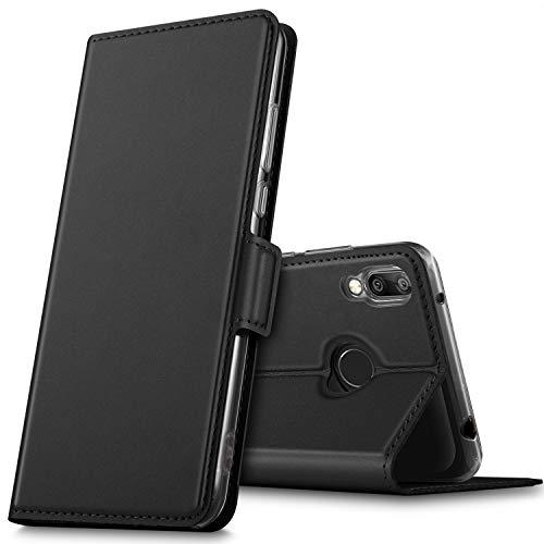 GEEMAI für Huawei Y7 2019 Hülle, für Huawei Y7 Prime 2019 Hülle, handyhüllen Flip Hülle Wallet Stylish mit Standfunktion & Magnetisch PU Tasche Schutzhülle passt für Huawei Y7 2019 Phone, Schwarz