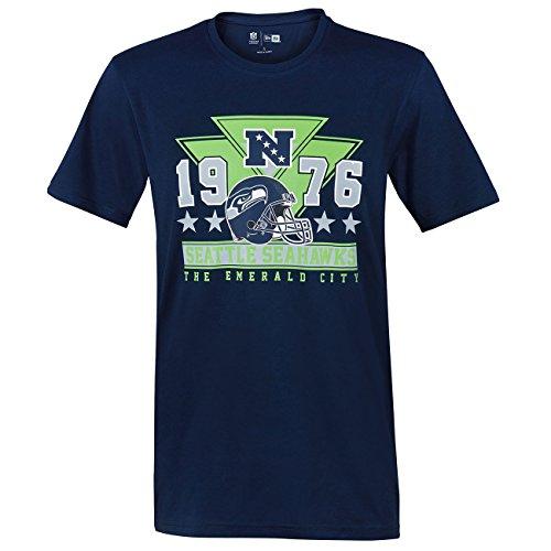 New Era NFL Triangle Tee Seattle Seahawks, T-Shirt Homme