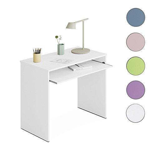 Habitdesign 002314BO - Mesa de Ordenador, Color Blanco Brillo, Dimensiones 90 x 79 x 60 cm