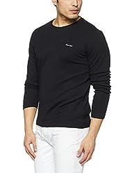Monte Carlo Mens Solid Regular Fit T-Shirt (217039919-1_Black_44)