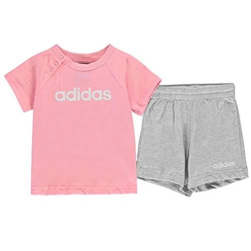adidas I Lin Sum Set Chándal, Unisex bebé, Rosa (rossua/Blanco), 62