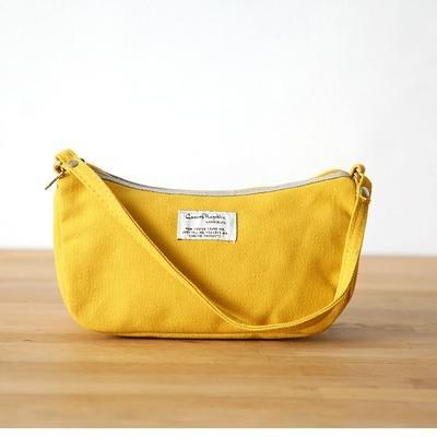 &ZHOU Handtaschen Frauen Leinwand Tuch Pakete Freizeit-Paket Schalen tragbare Taschengeldbörse Yellow