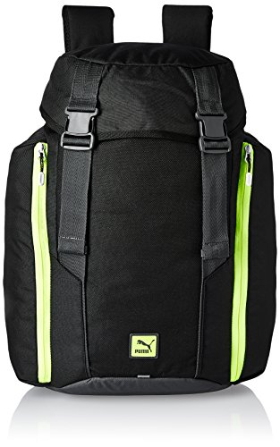 Puma Unisex Duplex Buckle Backpack Black / Yellow-Black-O/S Size O/S
