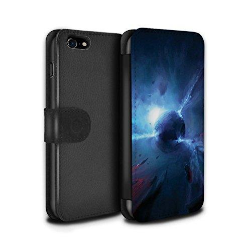 Offiziell Chris Cold PU-Leder Hülle/Case/Tasche/Cover für Apple iPhone 8 / Phönix/Raumzeit Muster / Galaktische Welt Kollektion Pulsar/Neutron Stern