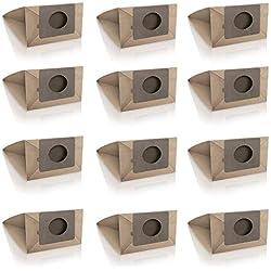 Wessper 12x Sacs d'aspirateur pour Moulinex Zelio MO 401341 (Papier)