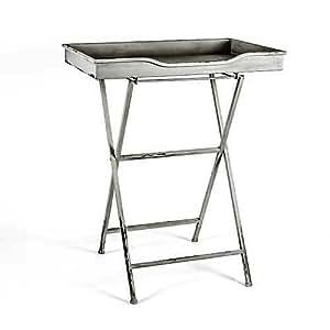 landhaus gelldorf tisch beistelltisch tablett grau wei schlam rostig metall. Black Bedroom Furniture Sets. Home Design Ideas