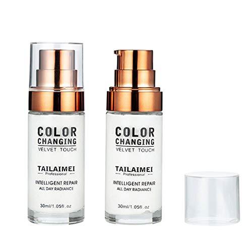 DEELIN Flawless Colour Changing Foundation Makeup Base Nude Face Cover Flüssiger Concealer Puder in einem Make-up, 24 + Stunden makellose Volldeckung, LSF 50, Natürlich, AMhomely® (Weiß) - Nars Cosmetics