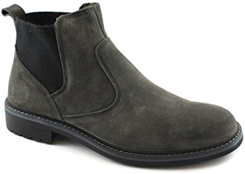 IGI&Co 87241 Zapatos de Carbón de Leña Botas de Gamuza Gris Hombre Beatles
