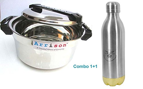 Arrison stainless steel casserole 2400ml with Flask Duo Primo 350ml