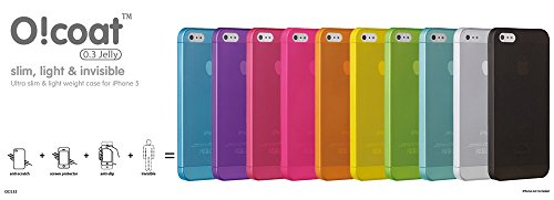 Apple Iphone 5-faceplates (Faceplate für Apple iPhone 5, 5S Ozaki O!Coat 0.3 Jelly ultra thin case pink)