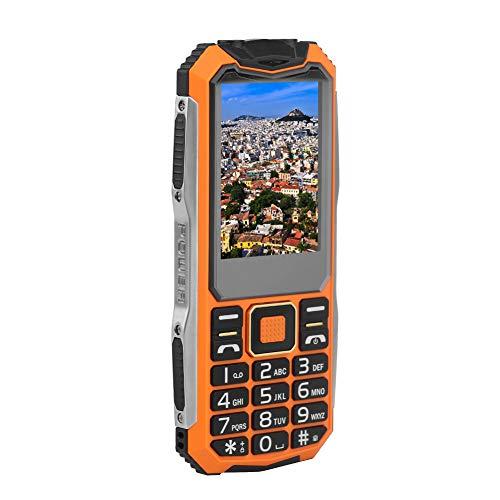 ASHATA GSM-Mobiltelefon, Dual SIM Dual Standby Handy 2.4 Zoll Farbdisplay Telefon,Tragbar GSM Telefon Große physische Tasten Dual SIM Handy mit 2 Taschenlampe für Gutes Geschenk EU(Orange)